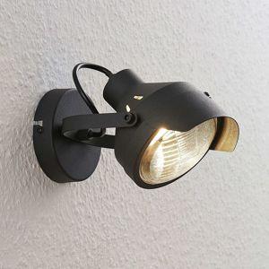 Reflektorová bodová lampa Henega čierna, 1 svetlo