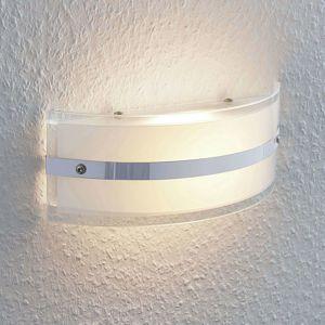 Sklená nástenná lampa Zinka s LED, 25 cm