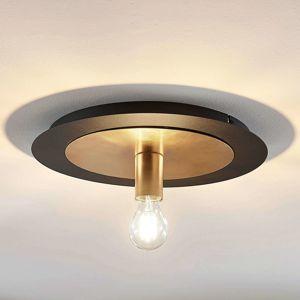 Kovová stropná lampa Justik, 1 svetlo, čierna