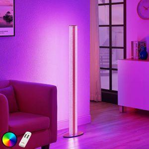 Lindby Sylke stojaca LED lampa, diaľkové ovládanie