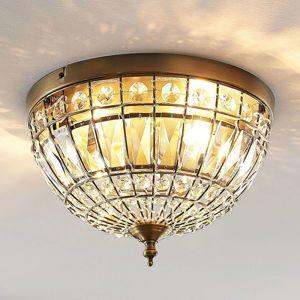 Lindby Jamaal stropné svietidlo zo skla