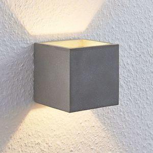 Lindby Nellie betónové nástenné LED svetlo 11,5cm