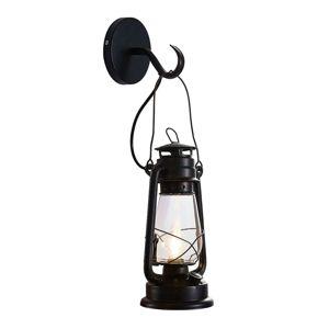 Lindby Raisa nástenné svietidlo, lucerna, hrdza