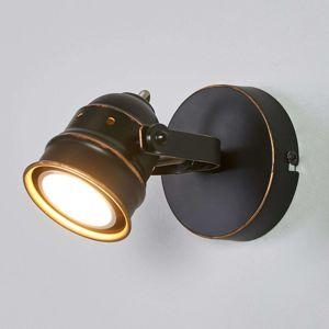 Čierno-zlaté GU10 bodové svetlo Leonor LED