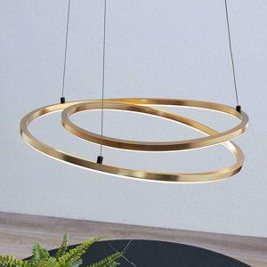 Lindby Davian závesné LED stmievateľné, mosadz