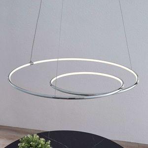 Lindby Lucy závesné LED svietidlo, 70cm, chróm