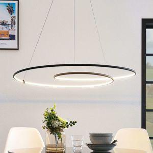 Lindby Lucy závesné LED svetlo 90cm, čierna matná
