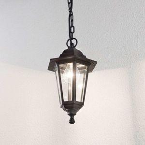 Vonkajšia závesná lampa Nane v tvare lucerny