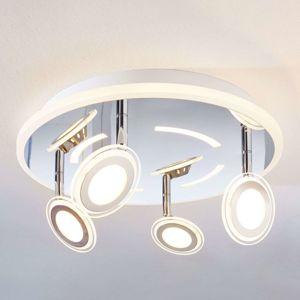 Stropné LED svietidlo Enissa, okrúhle, 4-plameňové
