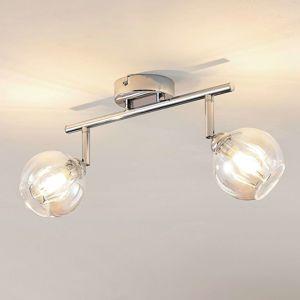 Lindby Pranas stropné LED svietidlo, 2-plameňové