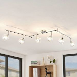 Lindby Pranas stropné LED svietidlo šesť-plameňové
