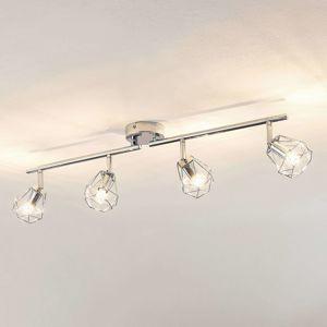 Lindby Giada stropné LED svietidlo štvor-plameňové