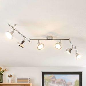 Lindby Ayden stropné LED svietidlo, šesť-plameňové