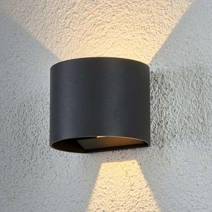 Polkruhové vonkajšie nástenné LED svietidlo Ella