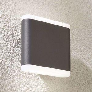 Vonkajšie nástenné LED svietidlo Vaiana tmavosivé