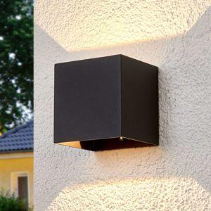 Hranaté vonkajšie nástenné LED svietidlo Evie