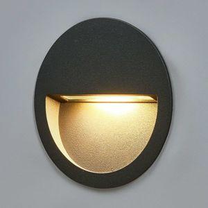 Okrúhle zapustené nástenné LED svietidlo Loya