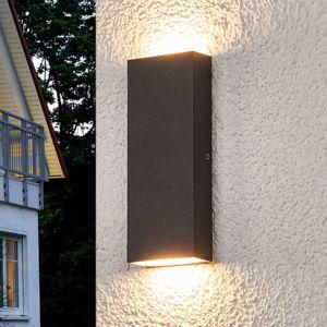 Ploché vonkajšie nástenné LED svietidlo Corda