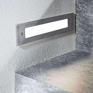 Zapustené nástenné LED svietidlo Roni oceľ 27 cm
