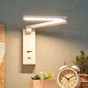 Nástenné LED svietidlo Salloa s vypínačom
