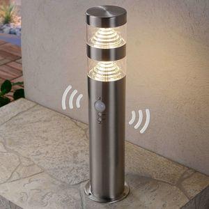 Detektor pohybu soklové LED svietidlo Lanea oceľ