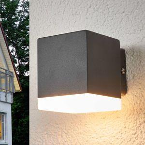 Vonkajšie nástenné svetlo Hedda sivé s diódami LED