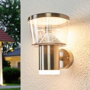 Vonkajšie nástenné LED svietidlo Antje oceľ