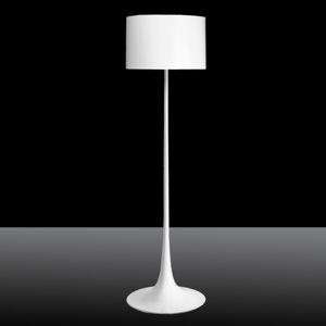 FLOS FLOS Spun Light F – biela stojaca lampa