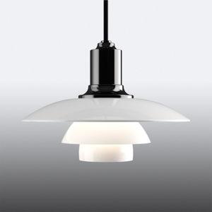 Louis Poulsen Louis Poulsen PH 2/1 sklenená závesná lampa čierna