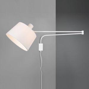 Trio Lighting Nástenné svetlo Baldo s káblom + zástrčkou, biele